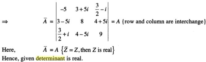 20b Determinant with Complex number