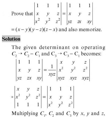21 prove that both Determinants are same