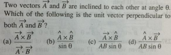 21 Vector A and B are inclined to each other