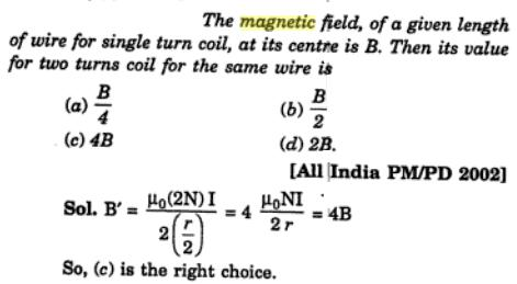 23 magnetic field of given length of wire