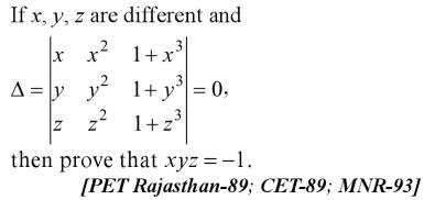 25 PET Rajasthan CET 89 MNR 93 Determinant