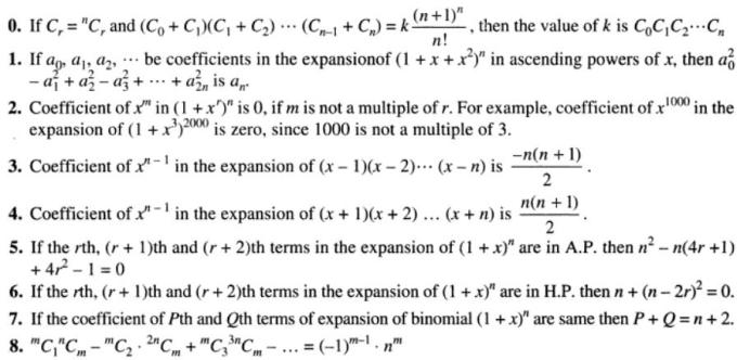 25 some binomial theorem results