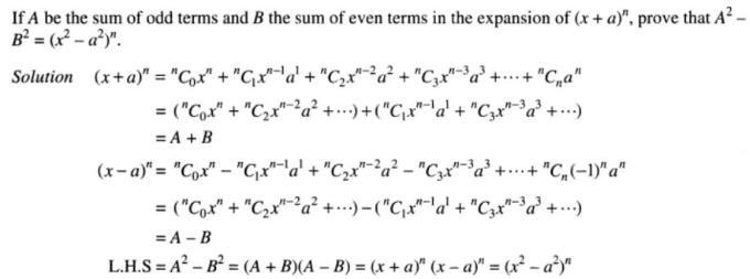 27 Binomial theorem