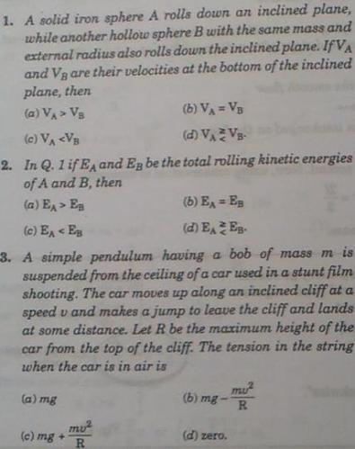 2a MI 1-3 various questions