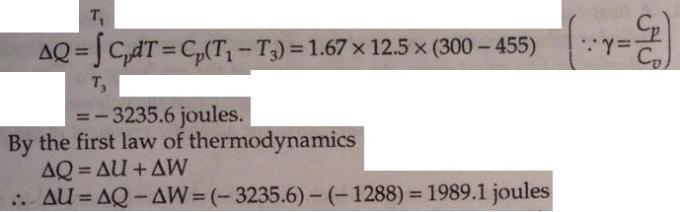 3 cyclic process ideal monoatomic gas Thermodynamics