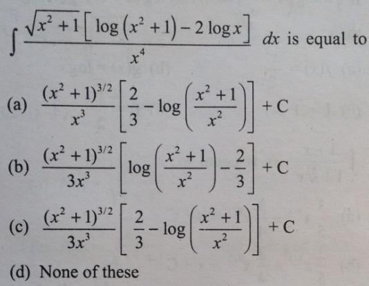 3 root x square plus 1 log x square plus 1 minus