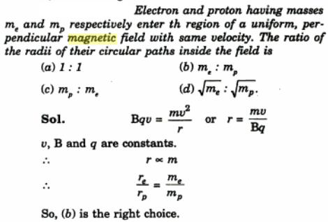 30 Electron and proton enetr magnetic field SKMClasses