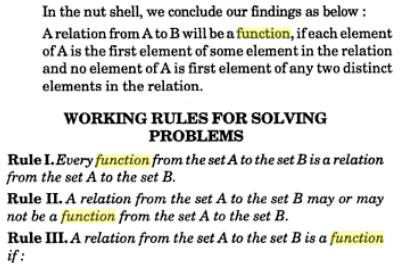 30c working rules for Function problems