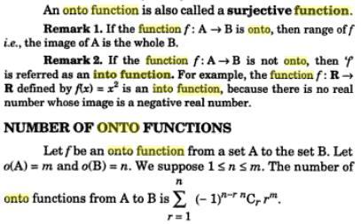 30i number of onto functions