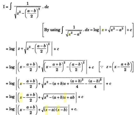 31b Integration of root x minus a into x minus b