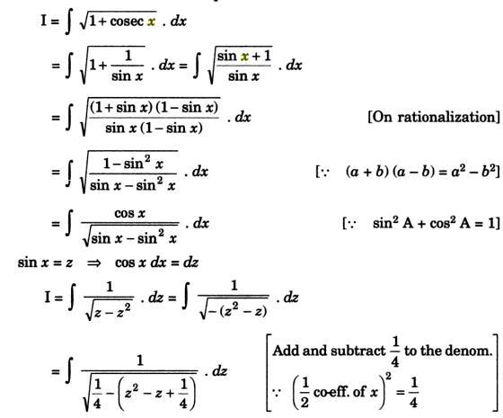 32a Integration of root 1 plus Cosec x