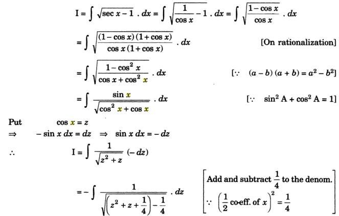 33a Integration of root sec x minus 1