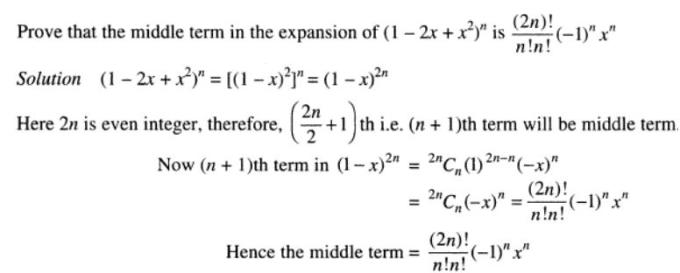 34 Binomial theorem