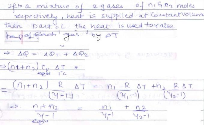34c Kinetic theory of Gases Equivalent Gamma
