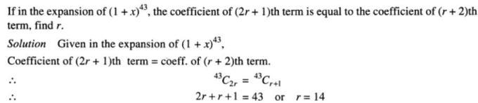 35 Binomial theorem