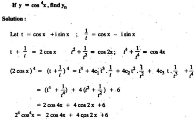 35 n th differentiation of Cos to the power 4