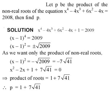 35a let p be the product of the non real roots