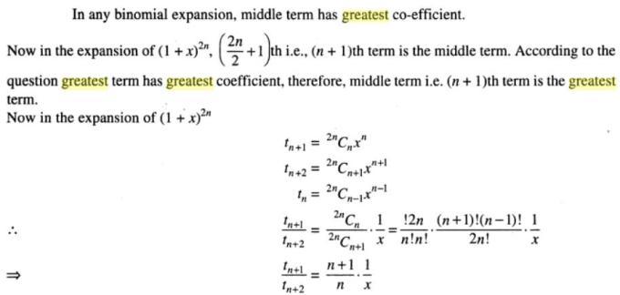 36 Binomial theorem