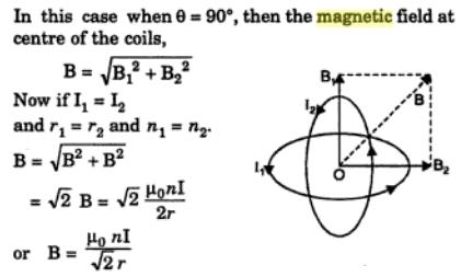 36 Magnetic field due to concentric loops at angle