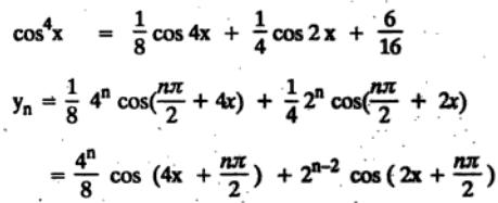 36 n th differentiation of Cos to the power 4