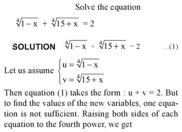 36a Solve the equation