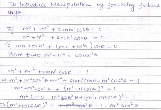36a Trigonometry Manipulation techniques