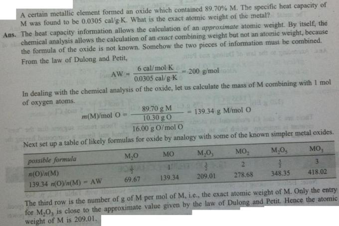38b Dulong Petit law example numerical