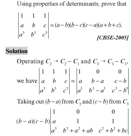 39 Expand the Determinant