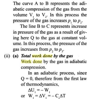 3c mono atomic gas adiabatic compression