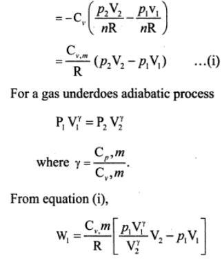 3e mono atomic gas adiabatic compression
