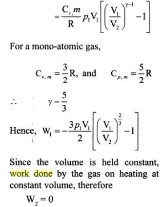 3f mono atomic gas adiabatic compression
