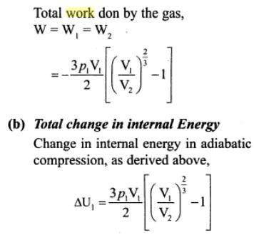 3g mono atomic gas adiabatic compression