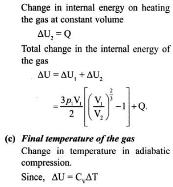 3h mono atomic gas adiabatic compression