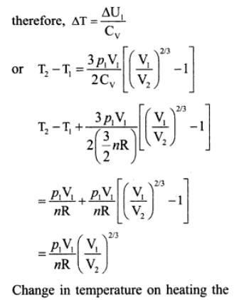 3i mono atomic gas adiabatic compression