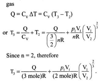 3j mono atomic gas adiabatic compression