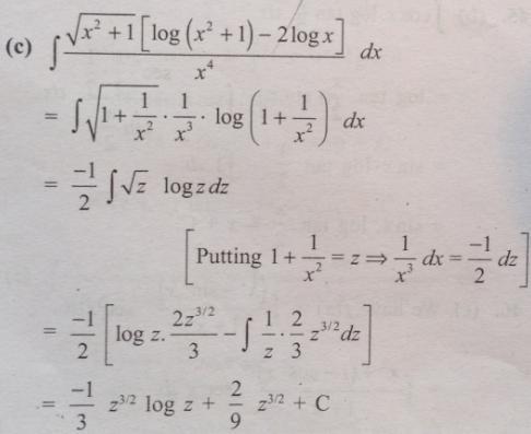 4 root x square plus 1 log x square plus 1 minus