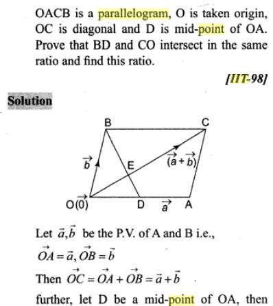 4 Vectors midpoints triangle parallelogram SKMClasses Subhashish Sir Bangalore