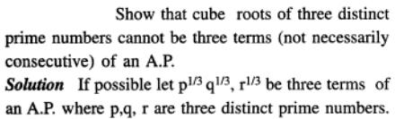 40 AP Cube roots of consecutive prime numbers can not be AP