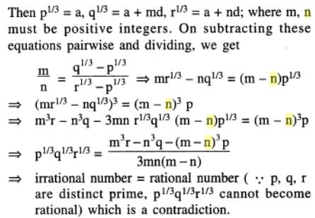 41 AP Cube roots of consecutive prime numbers can not be AP