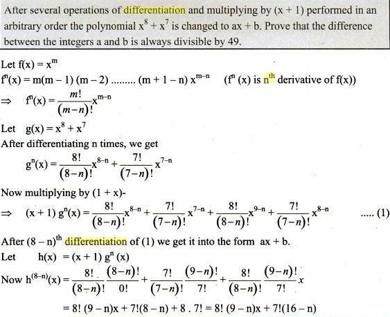 41 n the differentiation of x to the power m