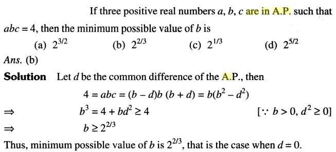 41a if three positive real numbers a,b,c are in AP