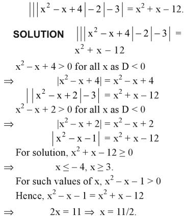 41a Solve for x