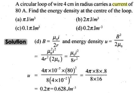 43 Circular loop of wire 4 cm radius SKMClasses