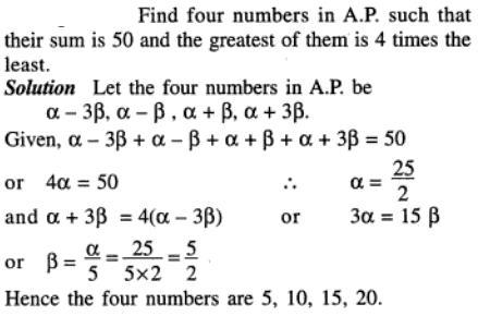 44 AP 4 numbers in AP