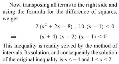 45b Solve the inequality