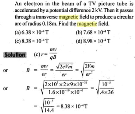 46 electron in the beam of a TV picture SKMClasses IIT JEE