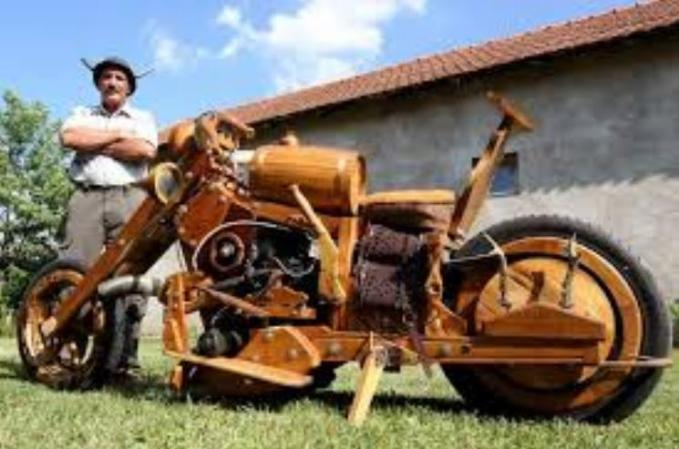 46a Wooden motorcycle