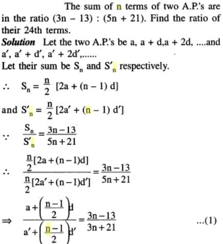 47 AP sum of n terms of 2 APs are in ratio