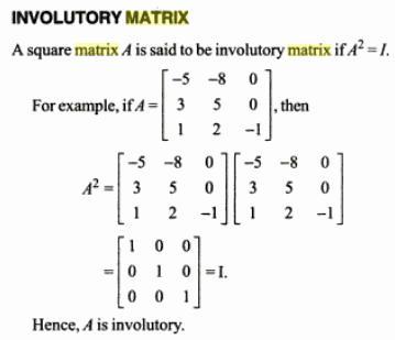 47j involutory matrix