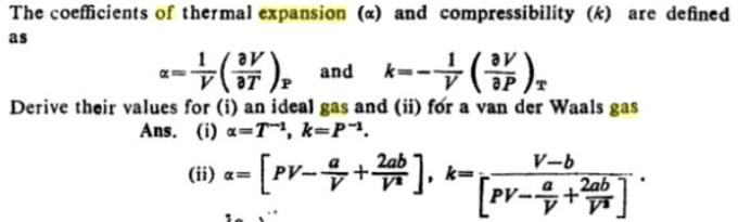 48b Coefficient of thermal expansion and compressibility